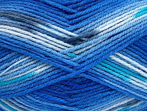 Fiber Content 100% Baby Acrylic, Turquoise, Light Grey, Brand ICE, Blue Shades, Yarn Thickness 2 Fine  Sport, Baby, fnt2-61135