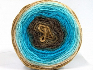 Fiber Content 100% Premium Acrylic, Turquoise Shades, Brand ICE, Brown Shades, Yarn Thickness 2 Fine  Sport, Baby, fnt2-61143