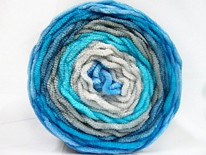 Fiber Content 100% Acrylic, Turquoise Shades, Brand ICE, Grey Shades, Yarn Thickness 4 Medium  Worsted, Afghan, Aran, fnt2-61162
