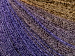 Fiber Content 60% Acrylic, 20% Wool, 20% Angora, Purple, Lilac Shades, Brand ICE, Brown Shades, Yarn Thickness 2 Fine  Sport, Baby, fnt2-61196