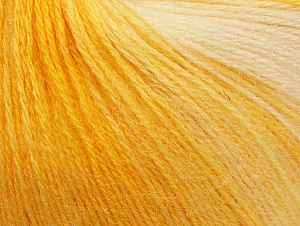 Fiber Content 60% Acrylic, 20% Wool, 20% Angora, Yellow Shades, White, Brand ICE, Yarn Thickness 2 Fine  Sport, Baby, fnt2-61207