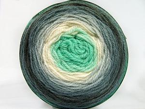 Fiber Content 70% Premium Acrylic, 30% Wool, Mint Green, Brand ICE, Grey Shades, Cream, Yarn Thickness 3 Light  DK, Light, Worsted, fnt2-61218