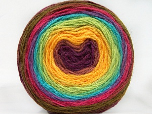 Fiber Content 70% Premium Acrylic, 30% Wool, Yellow, Turquoise, Maroon, Lilac, Brand ICE, Green Shades, Yarn Thickness 3 Light  DK, Light, Worsted, fnt2-61237