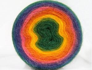 Fiber Content 60% Acrylic, 20% Wool, 20% Angora, Rainbow, Brand ICE, Yarn Thickness 2 Fine  Sport, Baby, fnt2-61244