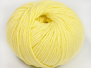 Fiber Content 50% Cotton, 50% Acrylic, Light Yellow, Brand ICE, fnt2-62405
