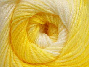 Vezelgehalte 100% Baby acryl, Yellow Shades, White, Brand ICE, Yarn Thickness 2 Fine  Sport, Baby, fnt2-62537