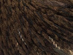Fiber Content 85% Acrylic, 15% Wool, Brand ICE, Dark Brown, Black, fnt2-62967