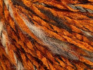 Fiber Content 85% Acrylic, 15% Wool, Orange, Brand ICE, Brown Shades, Black, fnt2-62969