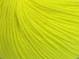Fiber Content 60% Cotton, 40% Acrylic, Neon Yellow, Brand ICE, fnt2-63004
