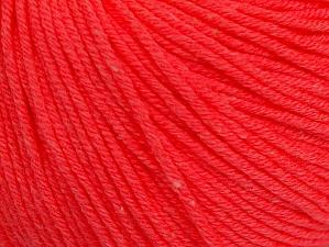 Fiber Content 60% Cotton, 40% Acrylic, Neon Salmon, Brand ICE, fnt2-63006