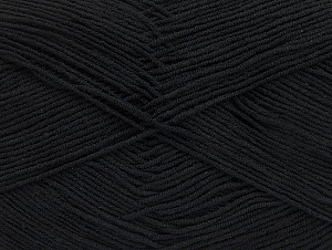 İçerik 55% Pamuk, 45% Akrilik, Brand ICE, Black, Yarn Thickness 1 SuperFine  Sock, Fingering, Baby, fnt2-63106