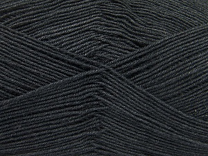 Fiber Content 55% Cotton, 45% Acrylic, Brand ICE, Anthracite Black, Yarn Thickness 1 SuperFine  Sock, Fingering, Baby, fnt2-63107