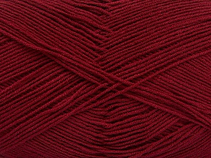 İçerik 55% Pamuk, 45% Akrilik, Brand ICE, Burgundy, Yarn Thickness 1 SuperFine  Sock, Fingering, Baby, fnt2-63110