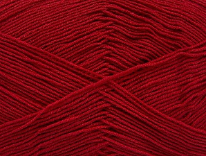 İçerik 55% Pamuk, 45% Akrilik, Brand ICE, Dark Red, Yarn Thickness 1 SuperFine  Sock, Fingering, Baby, fnt2-63111