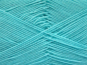 İçerik 55% Pamuk, 45% Akrilik, Light Turquoise, Brand ICE, Yarn Thickness 1 SuperFine  Sock, Fingering, Baby, fnt2-63116