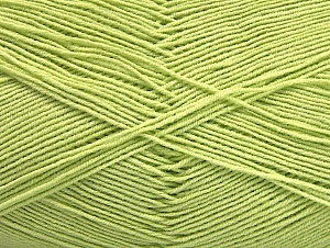 Fiber Content 55% Cotton, 45% Acrylic, Light Green, Brand ICE, Yarn Thickness 1 SuperFine  Sock, Fingering, Baby, fnt2-63118