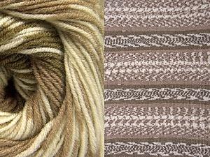 Fiber Content 70% Acrylic, 30% Wool, Khaki, Brand ICE, Cream, Camel, Yarn Thickness 3 Light  DK, Light, Worsted, fnt2-63214