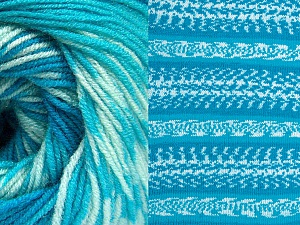 Fiber Content 70% Acrylic, 30% Wool, Turquoise Shades, Brand ICE, Yarn Thickness 3 Light  DK, Light, Worsted, fnt2-63215