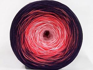 Fiber Content 50% Acrylic, 50% Cotton, Salmon, Purple, Light Pink, Brand ICE, Yarn Thickness 2 Fine  Sport, Baby, fnt2-63326