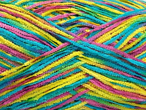 Fiber Content 100% Polyester, Yellow, Turquoise, Brand ICE, Green, Fuchsia, Yarn Thickness 1 SuperFine  Sock, Fingering, Baby, fnt2-63357