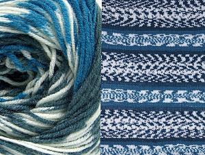 Fiber Content 70% Acrylic, 30% Wool, White, Brand ICE, Blue, Anthracite Black, fnt2-63387