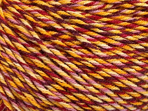 Fiber Content 55% Cotton, 45% Acrylic, Yellow Shades, Red, Pink, Brand ICE, fnt2-63410