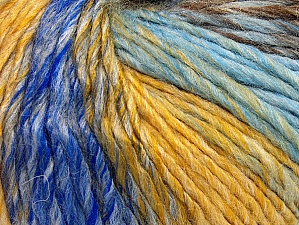Fiber Content 70% Acrylic, 30% Wool, Yellow, Brand ICE, Grey, Brown, Blue Shades, fnt2-63452