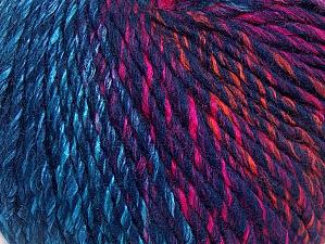 Fiber Content 70% Acrylic, 30% Wool, Turquoise, Pink, Orange, Navy, Brand ICE, fnt2-63459