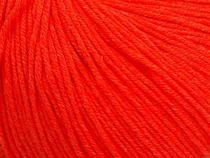 Fiber Content 60% Cotton, 40% Acrylic, Neon Orange, Brand ICE, fnt2-63478