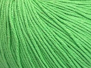 Fiber Content 60% Cotton, 40% Acrylic, Light Green, Brand ICE, fnt2-63479