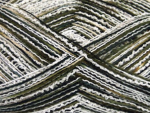 Fiber Content 80% Acrylic, 10% Polyamide, White, Khaki, Brand ICE, Black, fnt2-64007
