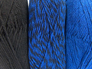 Fiber Content 90% Acrylic, 10% Polyester, Brand ICE, Blue, Black, fnt2-64021