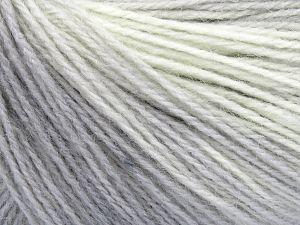 Fiber Content 60% Acrylic, 20% Wool, 20% Angora, Light Cream, Brand ICE, Grey Shades, Yarn Thickness 2 Fine  Sport, Baby, fnt2-64222