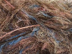 Light Green Salmon, Brand ICE, Brown Shades, Blue, Yarn Thickness 6 SuperBulky  Bulky, Roving, fnt2-64241