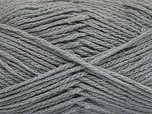 Fiber Content 98% Acrylic, 2% Paillette, Light Grey, Brand ICE, fnt2-64447