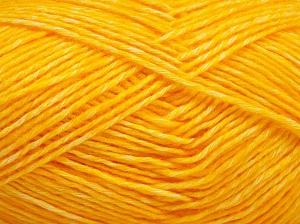 Fiber Content 80% Cotton, 20% Acrylic, Yellow, Brand Ice Yarns, fnt2-64558