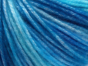 Fiber Content 56% Polyester, 44% Acrylic, Turquoise, Brand Ice Yarns, Blue Shades, fnt2-64622