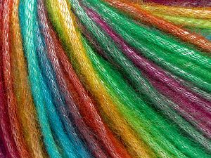Fiber Content 56% Polyester, 44% Acrylic, Rainbow, Brand Ice Yarns, fnt2-64624
