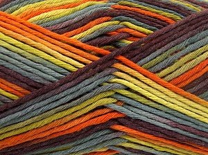 Fiber Content 100% Cotton, Purple, Orange, Brand Ice Yarns, Green Shades, fnt2-64630