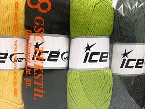 İçerik 52% Naylon, 48% Akrilik, Mixed Lot, Brand Ice Yarns, fnt2-64672