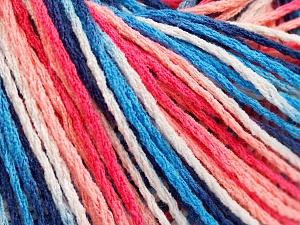 Περιεχόμενο ίνας 100% Ακρυλικό, White, Salmon Shades, Brand Ice Yarns, Blue Shades, fnt2-64904