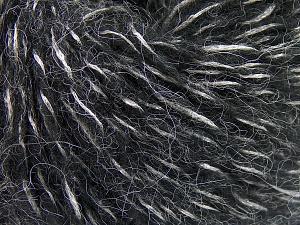 Fiber Content 60% Acrylic, 21% Polyester, 19% Alpaca, Silver, Brand Ice Yarns, Black, fnt2-64917