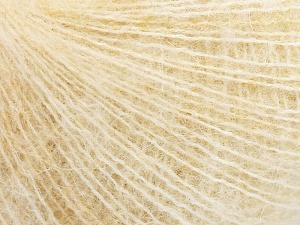 Fiber Content 31% Wool, 3% Elastan, 28% Alpaca Superfine, 22% Polyamide, 16% Acrylic, Brand Ice Yarns, Cream melange, fnt2-64977