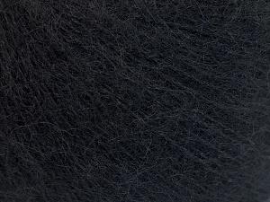 Fiber Content 40% Kid Mohair, 40% Alpaca Superfine, 3% Elastan, 17% Polyamide, Brand Ice Yarns, Black, fnt2-64983