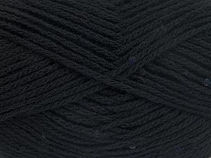 Fiber Content 98% Acrylic, 2% Paillette, Brand Ice Yarns, Black, fnt2-64999