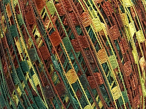 Trellis  Fiber Content 100% Polyester, Brand Ice Yarns, Green Shades, Brown Shades, Yarn Thickness 5 Bulky  Chunky, Craft, Rug, fnt2-65065