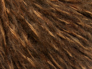 Fiber Content 40% Wool, 30% Acrylic, 20% Polyamide, 10% Metallic Lurex, Brand Ice Yarns, Brown Shades, fnt2-65118