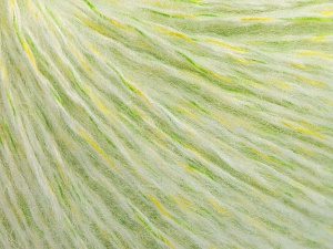 Fiber Content 50% Acrylic, 30% Wool, 20% Polyamide, White, Brand Ice Yarns, Green Shades, fnt2-65124