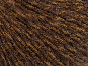 Fiber Content 85% Acrylic, 15% Wool, Brand Ice Yarns, Brown Shades, fnt2-65129