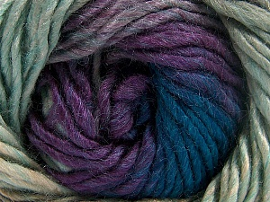 Fiber Content 50% Wool, 50% Acrylic, Turquoise, Purple, Brand Ice Yarns, Camel, fnt2-65181